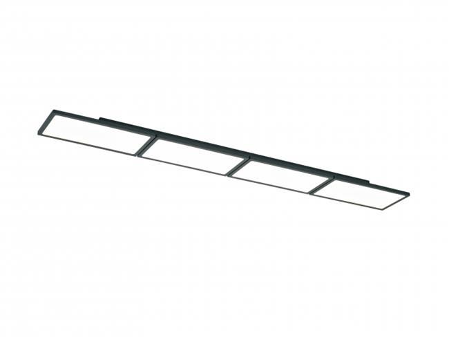 מנורת תקרה LED 60W שחור - תמי ורפי תאורה מעוצבת