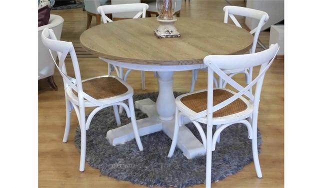מודרניסטית פינת אוכל עגולה פרובנס + 4 כיסאות מבית רהיטי זילבר | הדירה - פורטל CC-93