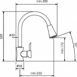 ברז נשלף למטבח תוצרת מדיצ'י דגם 80811 - מרכז השרון