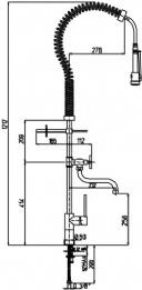 ברז פרח תעשייתי למטבח מדיצ'י דגם 57819 - מרכז השרון