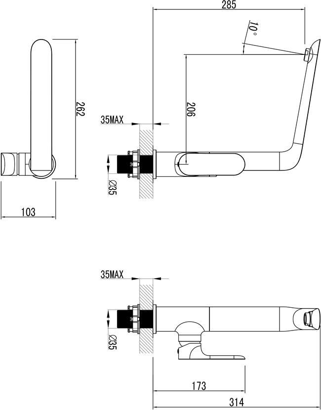 ברז פרח גבוה למטבח עדן 46804 - מרכז השרון