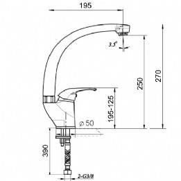 ברז פרח ברבור סדרת ענבר דגם 69808 - מרכז השרון