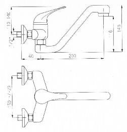ברז סוללה סדרת ענבר דגם 69038 - מרכז השרון