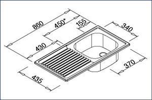 כיור EES 8X4 - מרכז השרון