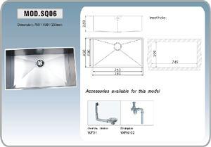 כיור מטבח SQ06F יחיד מנירוסטה - מרכז השרון