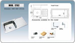 ET02 כיור מטבח עם משטח עבודה - מרכז השרון