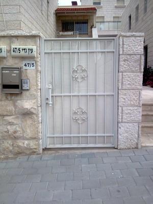 """דלת כניסה מעוצבת  - מסגרית הדודים בע""""מ"""