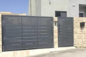 גדר חזית אפורה - עולם הגידור - תכנון ויצור גדרות