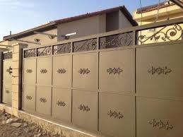 גדר חזית חומה - עולם הגידור - תכנון ויצור גדרות