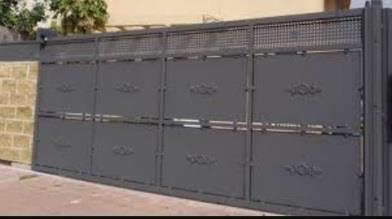 גדר חזית - שער - עולם הגידור - תכנון ויצור גדרות
