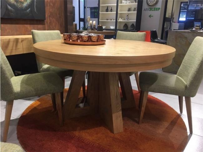 שולחן עץ עגול - רפאל דיזיין