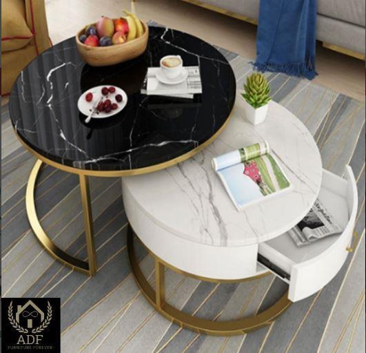 שולחן סלון עגול C10 - רהיטי עד