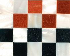 פסיפס שחור אדום ולבן  - קולאז