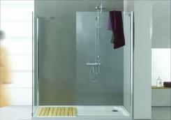 מקלחון Walk in shower - אל גל תעשיות אקריליות (אלגל)