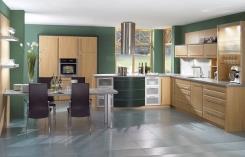 מטבח עם מגירות ירוקות - הרודס מטבחים