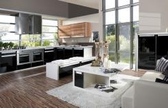 מטבח פתוח בשחור-לבן - הרודס מטבחים