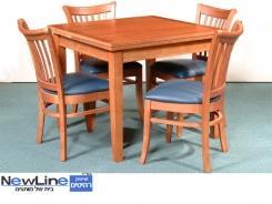 שולחן אוכל מעץ מלא דגם 2 - ניו ליין