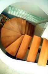מדרגות לוליניות ללא מעקות  - קו נבון