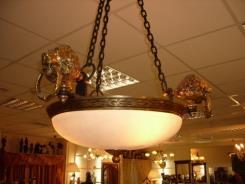 מנורה ייחודית עם ראשי אריות  - דיזיין G.D גלרי דענתיק