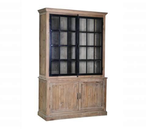 תוספת ארון ויטרינה לסלון מבית וסטו VASTU - גלריית רהיטים מעץ מלא   הדירה FZ-96