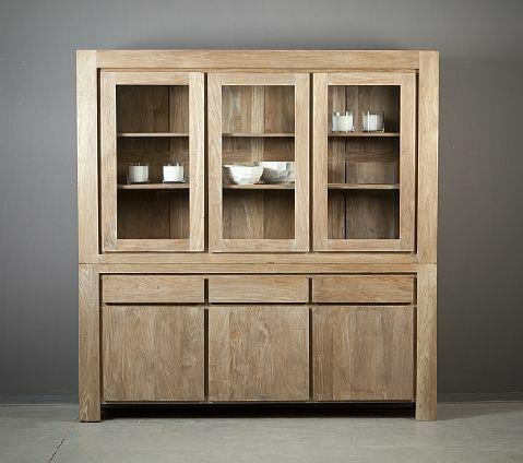 מסודר ויטרינה לסלון מעץ מלא מבית וסטו VASTU - גלריית רהיטים מעץ מלא AB-66