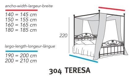 מיטת אפריון לבנה - DUPEN (דופן)