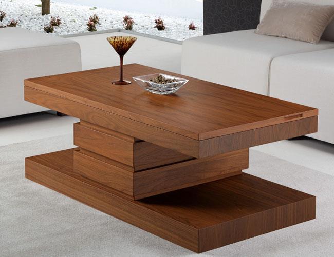 שולחן סלון חום - DUPEN (דופן)