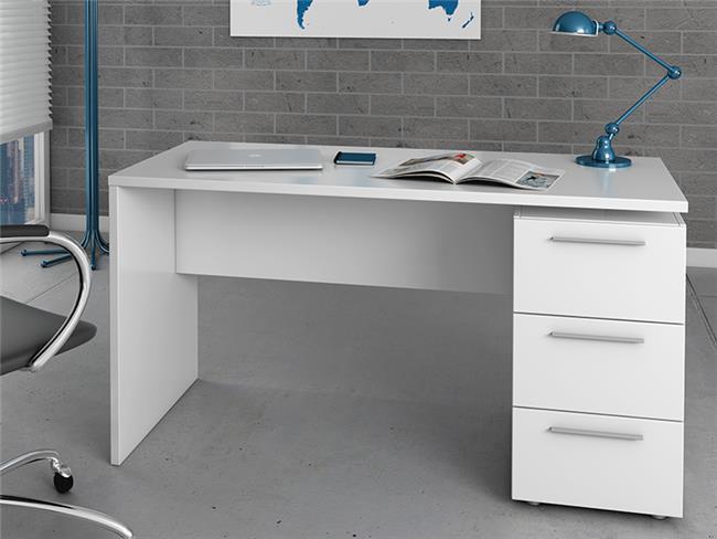 שולחן עבודה לבן עם מגירות - DUPEN (דופן)