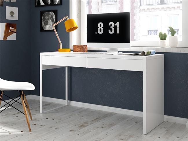 שולחן לבן עם מגירות - DUPEN (דופן)