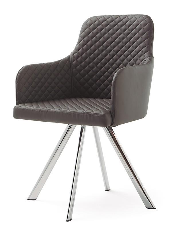 כסא מרופד דמוי עור - DUPEN (דופן)