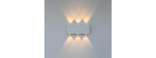מנורה לבנה לקיר - ברק תאורה