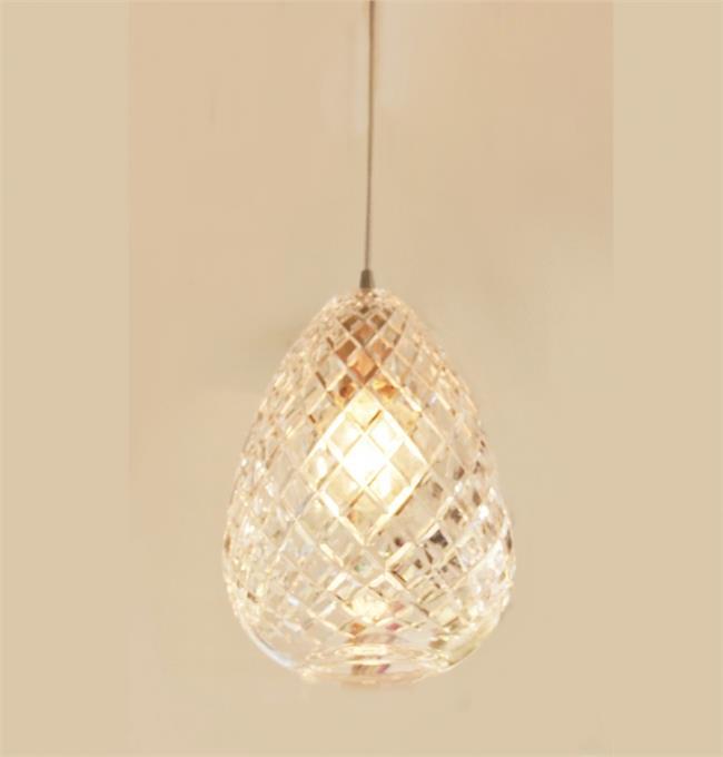 מנורת תליה אננס זכוכית קריסטל - ברק תאורה