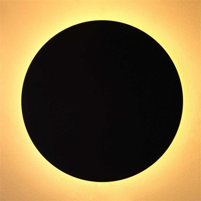 קיר מון עגול שחור - ברק תאורה