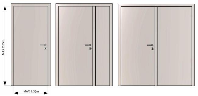 דלתות כניסה בייסיק דור - רשפים