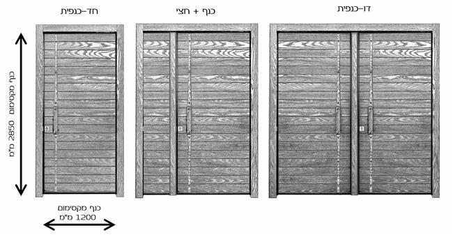 דלתות כניסה קאדיז כנף וחצי - רשפים