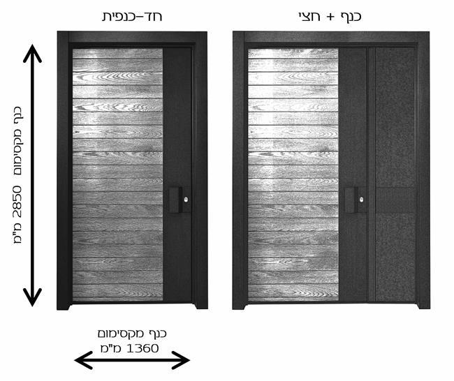 דלתות כניסה אליקנטה כנף וחצי - רשפים