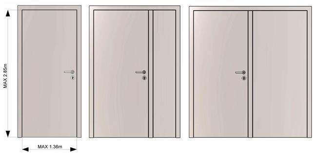 דלתות כניסה ניצה דו כנפית - רשפים