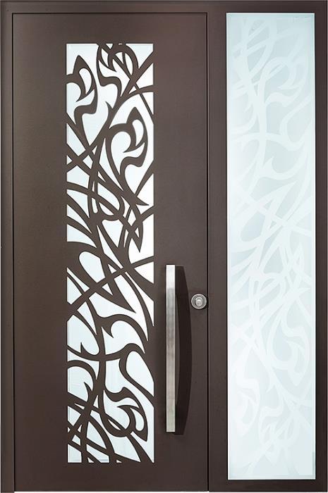 דלתות כניסה ארט-נובו ויטרינה - רשפים