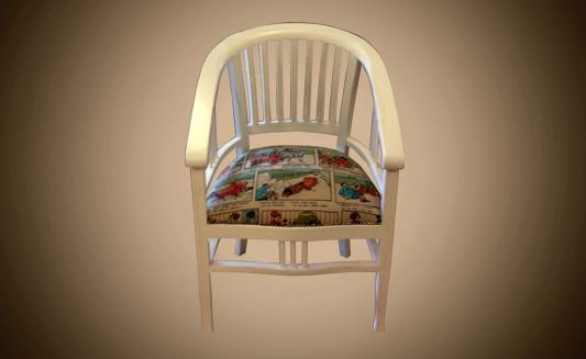 כיסא עם משענת מעוגלת - Treemium - חלומות בעץ מלא