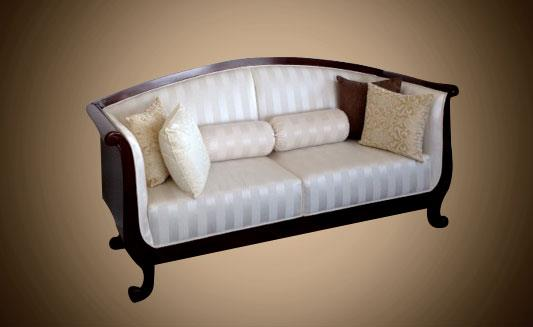 ספה לבנה יוקרתית - Treemium - חלומות בעץ מלא