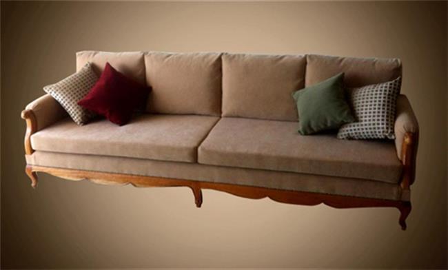 ספה אלגנטית בצבע בז' - Treemium - חלומות בעץ מלא