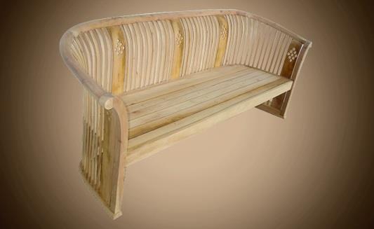 ספסל עשוי עץ מלא - Treemium - חלומות בעץ מלא