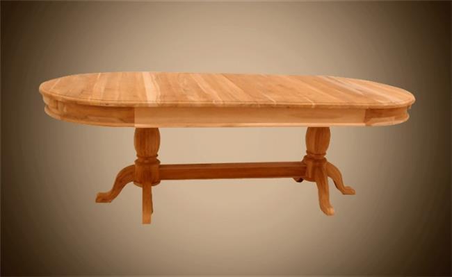 שולחן אוכל אובאלי - Treemium - חלומות בעץ מלא
