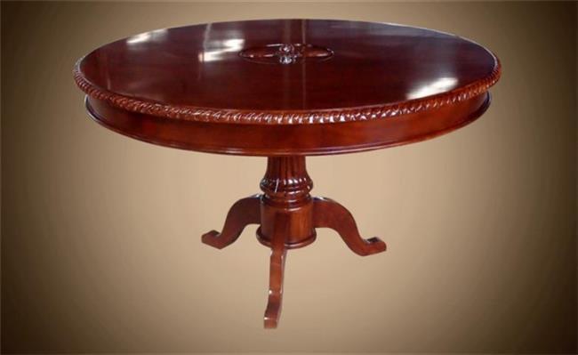 שולחן עגול חום - Treemium - חלומות בעץ מלא