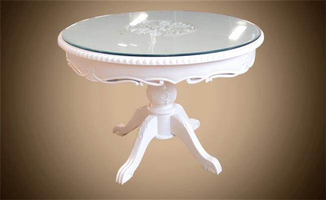 שולחן לבן עגול - Treemium - חלומות בעץ מלא