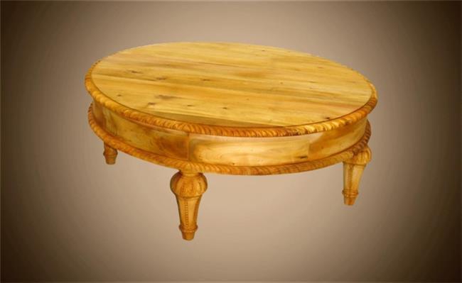שולחן עגול לסלון - Treemium - חלומות בעץ מלא