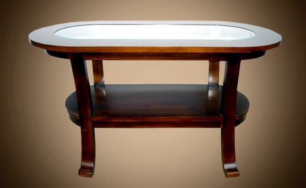 שולחן סלון אובאלי - Treemium - חלומות בעץ מלא