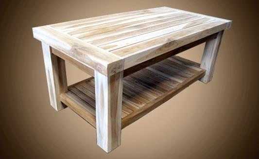 שולחן סלון במבנה מלבני - Treemium - חלומות בעץ מלא