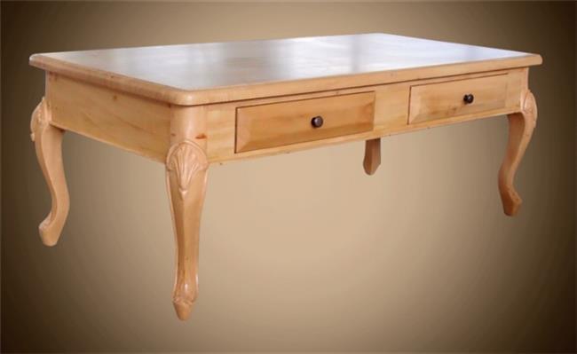 שולחן עץ עם 2 מגירות - Treemium - חלומות בעץ מלא