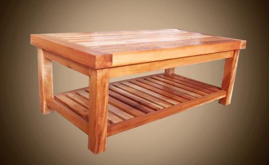 שולחן עץ מלא בגוון בהיר - Treemium - חלומות בעץ מלא